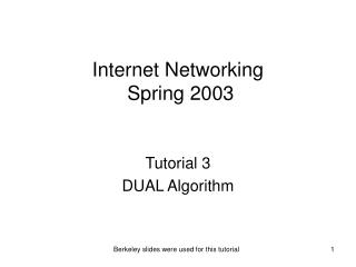 Internet Networking   Spring 2003