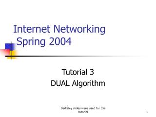 Internet Networking   Spring 2004