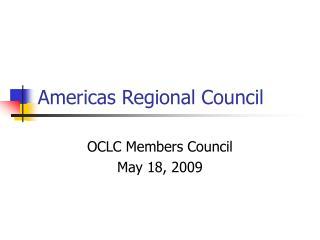 Americas Regional Council