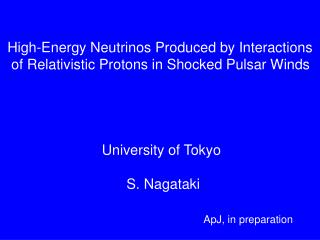 High-Energy Neutrinos Produced by Interactions  of Relativistic Protons in Shocked Pulsar Winds