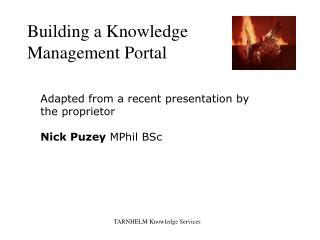Building a Knowledge Management Portal