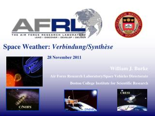 Space Weather:  Verbindung/Synthèse	 28 November 2011