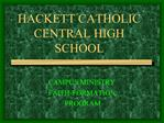 HACKETT CATHOLIC CENTRAL HIGH SCHOOL