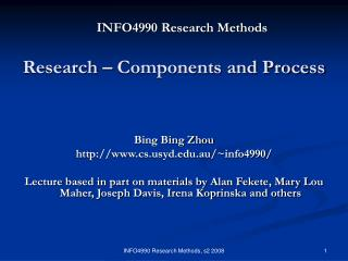 INFO4990 Research Methods