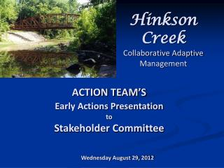 Hinkson Creek Collaborative Adaptive Management