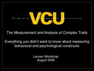 Leuven Workshop  August 2008