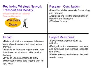 Rethinking Wireless Network Transport and Mobility