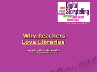 Why Teachers  Love Libraries by Mary Virginia Meeks youtu.be/DhGUwcAwe-w
