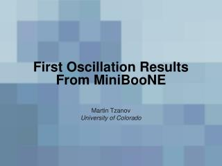 First Oscillation Results From MiniBooNE