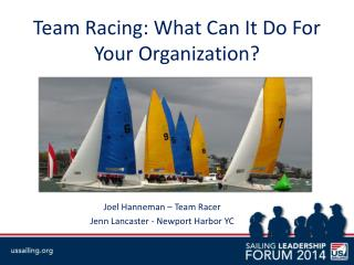 Team Racing: What Can It Do For Your Organization?