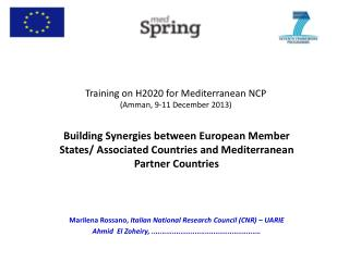 Training on H2020  for Mediterranean  NCP (Amman, 9-11  December  2013)