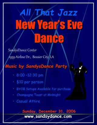 Sunday, December 31, 2006 sandsydance