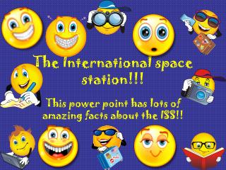 The International space station!!!