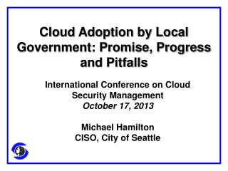 Cloud Adoption by Local Government: Promise, Progress and Pitfalls