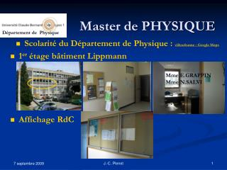 Master de PHYSIQUE