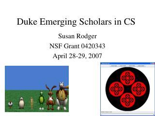Duke Emerging Scholars in CS