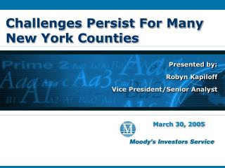 Challenges Persist For Many New York Counties