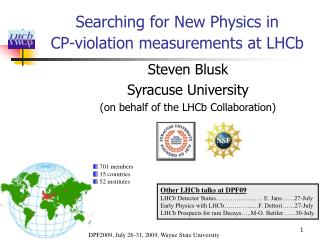 Searching for New Physics in  CP-violation measurements at LHCb