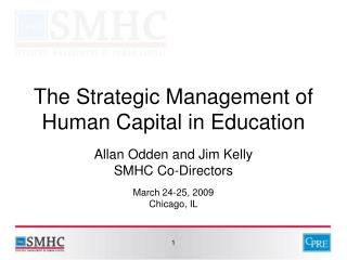 The Strategic Management of Human Capital in Education