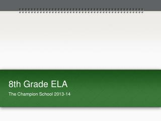 8th Grade ELA