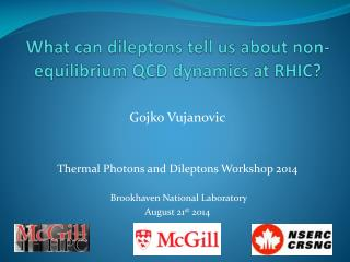 What can  dileptons  tell us about non-equilibrium  QCD  dynamics at RHIC?