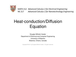 Heat-conduction/Diffusion Equation