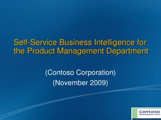 Self-Service Business Intelligence for the Product Management Department