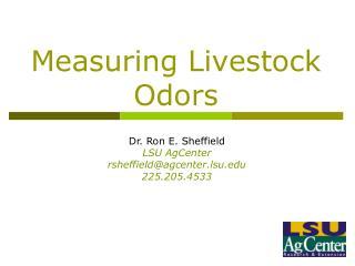 Measuring Livestock Odors