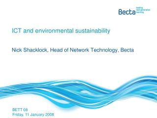 ICT and environmental sustainability