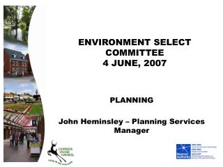 ENVIRONMENT SELECT COMMITTEE 4 JUNE, 2007