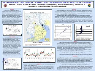 ANTHROPOGENIC INFLUENCES OF MERCURY CONCENTRATIONS IN 'SNAG LAKE' SEDIMENT