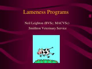 Lameness Programs