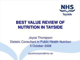 BEST VALUE REVIEW OF NUTRITION IN TAYSIDE