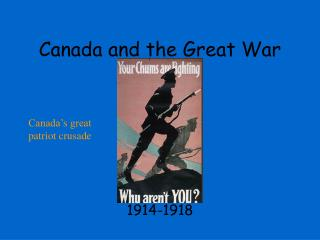 Canada and the Great War