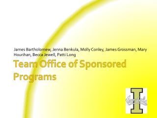 Team Office of Sponsored Programs
