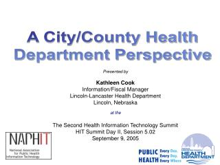 A City/County Health Department Perspective