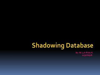 Shadowing Database