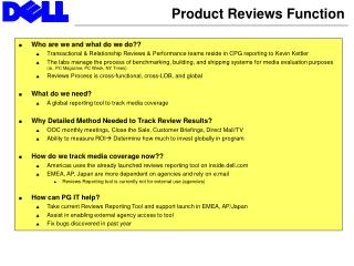 Product Reviews Function