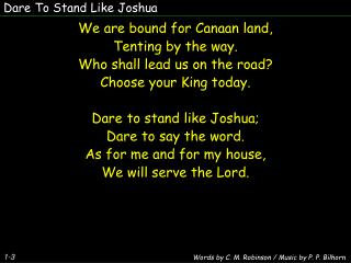 Dare To Stand Like Joshua