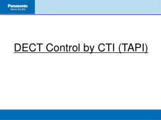 DECT Control by CTI (TAPI)