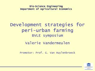 Development strategies for peri-urban farming BVLE symposium