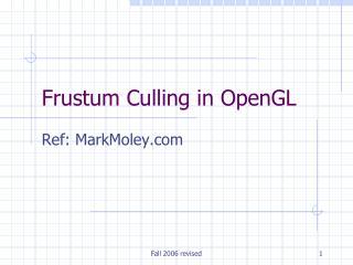 Frustum Culling in OpenGL