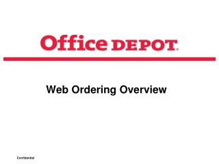 Web Ordering Overview