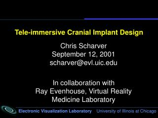 Tele-immersive Cranial Implant Design