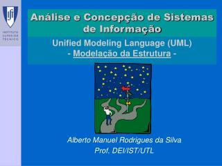 Unified Modeling Language (UML) -  Modelação da Estrutura  -