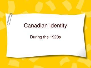 Canadian Identity