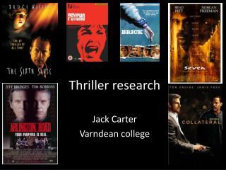 Thriller research