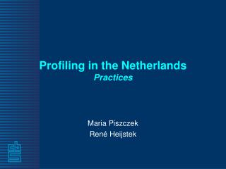 Profiling in the Netherlands Practices