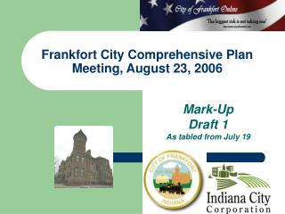 Frankfort City Comprehensive Plan Meeting, August 23, 2006
