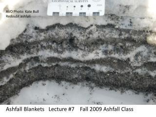 Ashfall Blankets   Lecture #7    Fall 2009 Ashfall Class